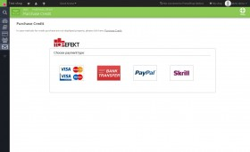 Purchase credit - purchase credit via PayPal directly from the module