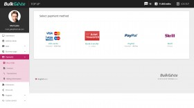 Purchase credit - purchase credit via PayPal and other methods directly from your module
